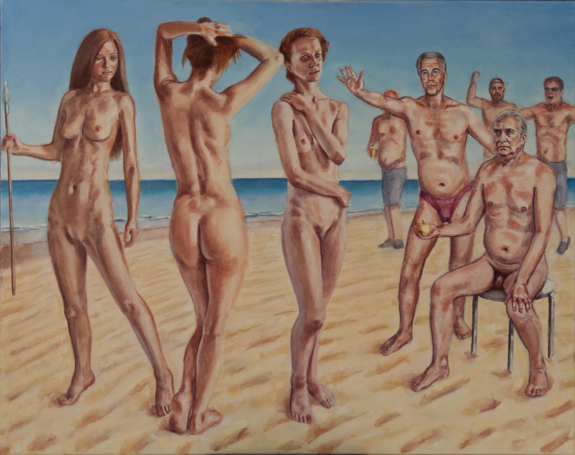 judgement of men oil painting
