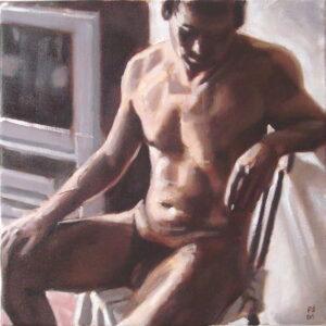 figure study man on chair