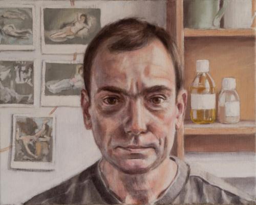 selfportrait by artist in studio