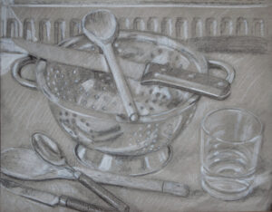 drawing of a colander
