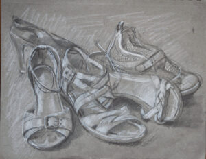 drawing of shoes