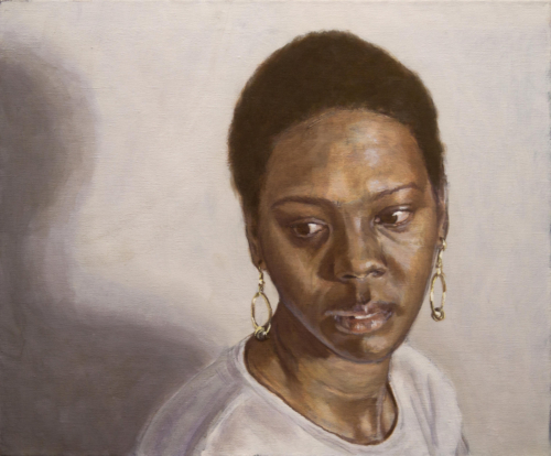 portrait painting of young bajan woman