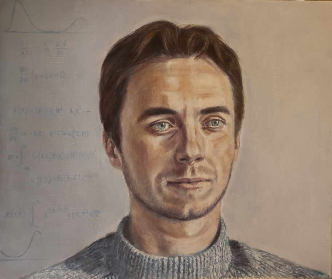 an oil painting portrait commission, commissioned during lockdown